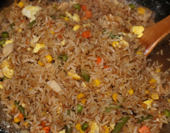 friedrice5 550x430 Homemade Fried Rice
