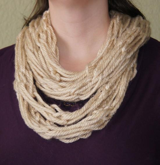 armknitscarf2 550x569 Arm Knit Scarf